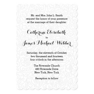 Convite do casamento hospedado pelos pais da noiva