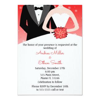 Convite do casamento no inverno do noivo da noiva