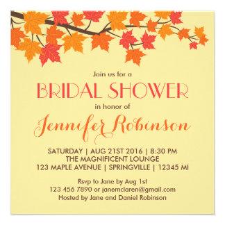 Convite do casamento outono das folhas de bordo