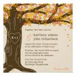 Convite do casamento outono do carvalho