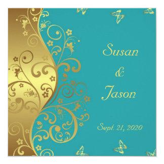 Convite do casamento--Redemoinhos & cerceta do
