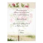 Convite do casamento vintage