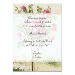 Convite do casamento vintage convite 12.7 x 17.78cm