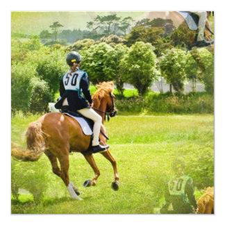 Convite do cavalo de Eventing