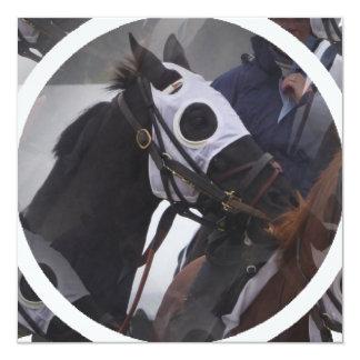 Convite do cavalo de raça