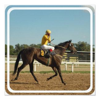 Convite do cavalo de raça do puro-sangue