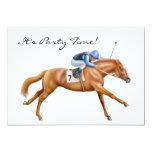 Convite do cavalo de raça do puro-sangue convite 12.7 x 17.78cm