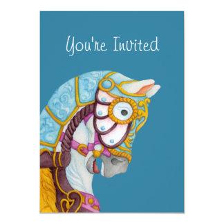Convite do cavalo do carrossel de Clara
