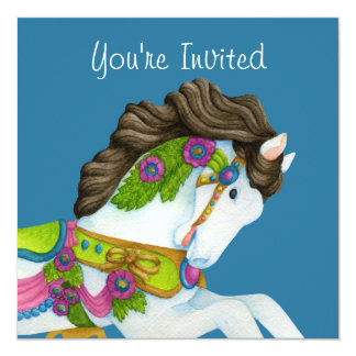 Convite do cavalo do carrossel de Gayle