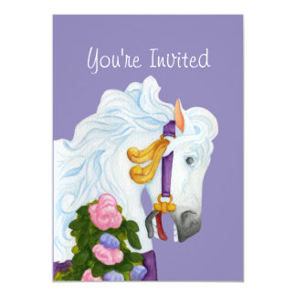 Convite do cavalo do carrossel de Najira