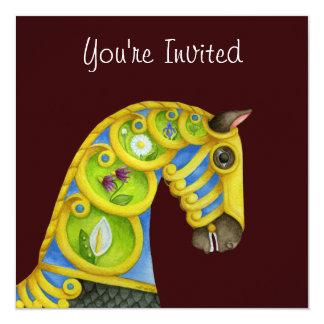 Convite do cavalo do carrossel de Netuno