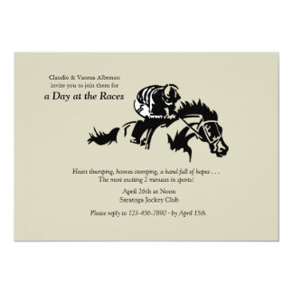 Convite do cavalo e do jóquei
