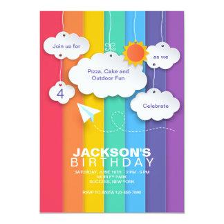 Convite do céu do arco-íris