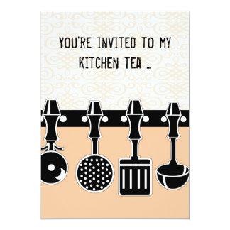 Convite do chá da cozinha