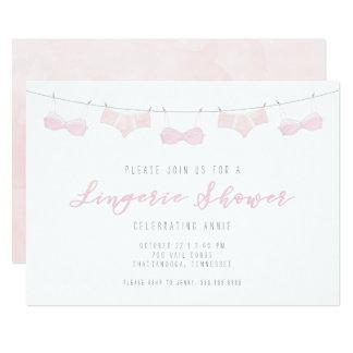 Convite do chá da lingerie - aguarela
