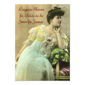 Convite do chá da lingerie do vintage