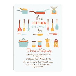 Convite do chá das ferramentas da cozinha