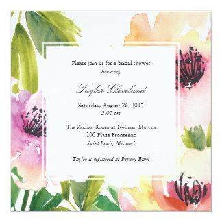 Convite do chá de casamento das papoilas da