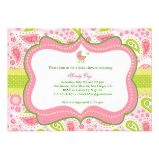 Convite do chá de fraldas