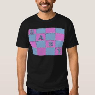 Convite do chá de fraldas camisetas