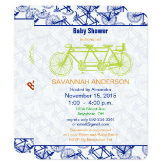 Convite do chá de fraldas da bicicleta do limão do