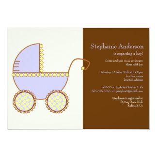 Convite do chá de fraldas da carruagem do bebé