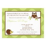 convite do chá de fraldas da coruja da floresta da