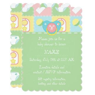 Convite do chá de fraldas da edredão do bebê