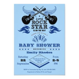 Convite do chá de fraldas da estrela do rock convite 12.7 x 17.78cm