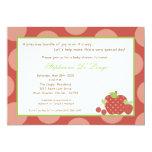 convite do chá de fraldas da fruta fresca das convite 12.7 x 17.78cm