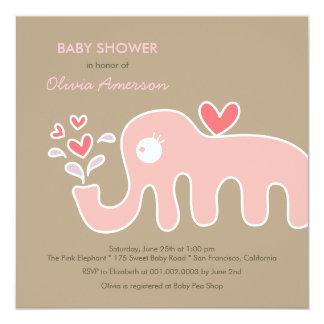 convite do chá de fraldas da menina do elefante