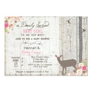 Convite do chá de fraldas da menina dos cervos