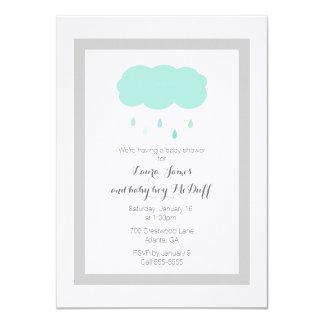 Convite do chá de fraldas da nuvem de chuva