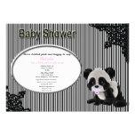 Convite do chá de fraldas da panda do bebê da meni