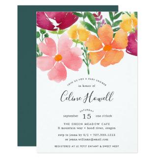 Convite do chá de fraldas da papoila de Califórnia