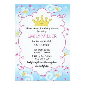 Convite do chá de fraldas da princesa Butterly