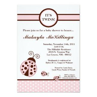 convite do chá de fraldas da senhora cor-de-rosa