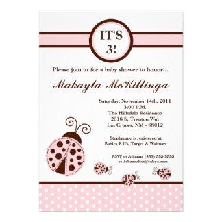 convite do chá de fraldas da senhora cor-de-rosa i