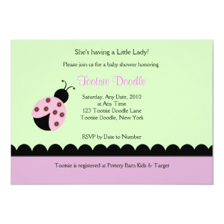 Convite do chá de fraldas da senhora Desinsetar do Convite 12.7 X 17.78cm