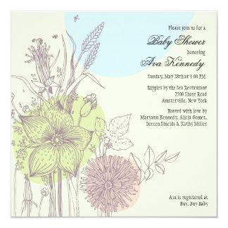 Convite do chá de fraldas das flores selvagens