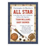 Convite do chá de fraldas de All Star dos esportes