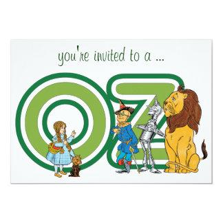 Convite do chá de fraldas de mágico de Oz do