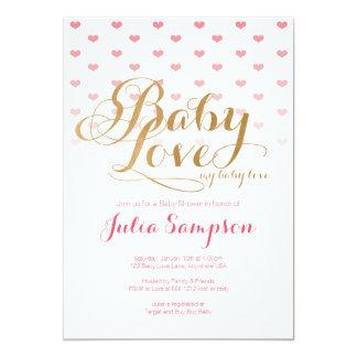 Convite do chá de fraldas do amor do bebê