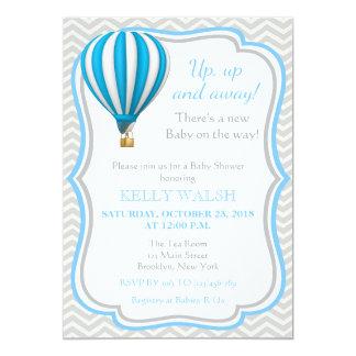 Convite do chá de fraldas do balão de ar quente