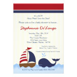 convite do chá de fraldas do barco da baleia de 5x