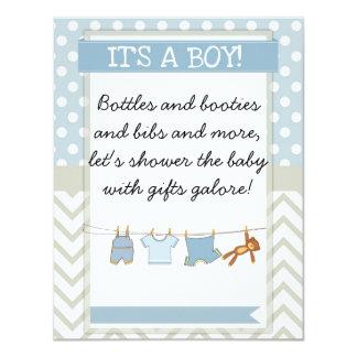 convite do chá de fraldas do bebé