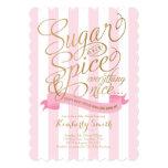 Convite do chá de fraldas do bebé do açúcar e da