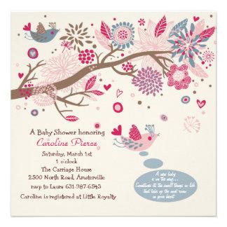Convite do chá de fraldas do Birds of a Feather