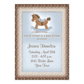 Convite do chá de fraldas do cavalo de balanço
