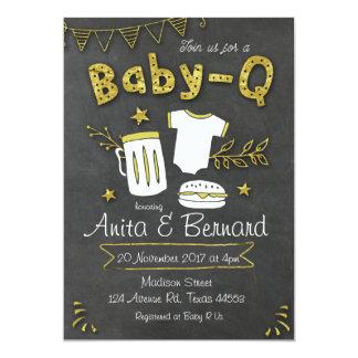Convite do chá de fraldas do Coed do bebê Q